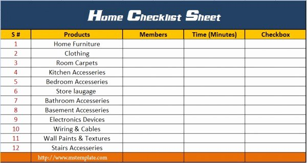 Microsoft Office Check Template Best Of Home Checklist Template