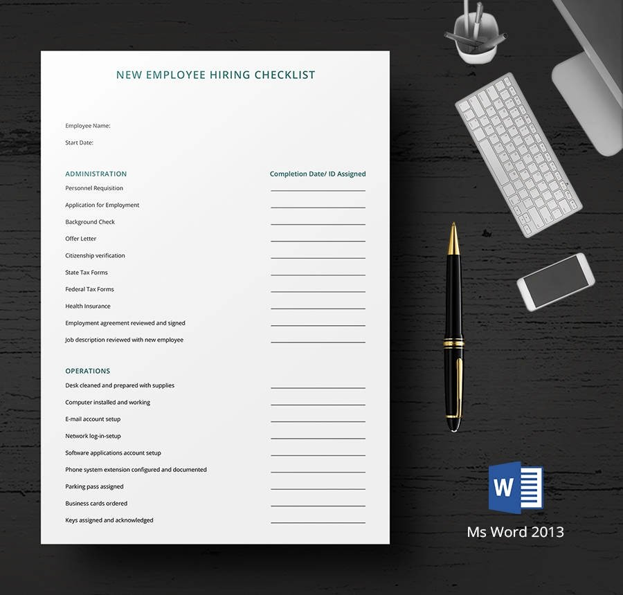 Microsoft Office Check Template Inspirational 8 Free Hr Checklist Templates Employee orientation