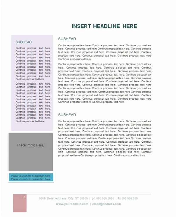 Microsoft Office Proposal Template Lovely Grant Proposal Template