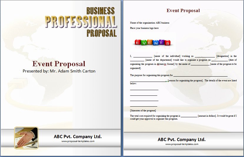 Microsoft Proposal Template Awesome 11 event Proposal Sample Templates Word Excel Pdf formats