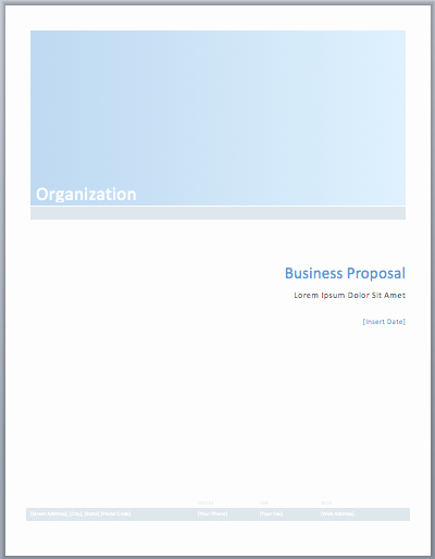 Microsoft Proposal Template Best Of Business Proposal Template – Microsoft Word Templates