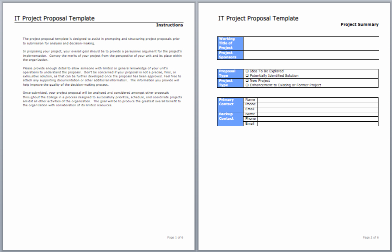Microsoft Proposal Template Inspirational Project Proposal Template 27 Free Premium Word