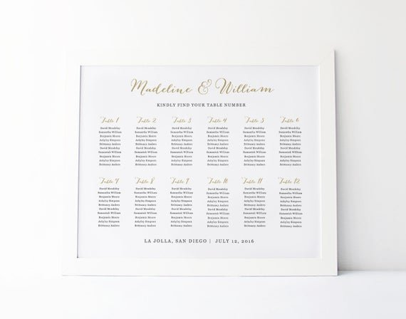 Microsoft Seating Chart Template Lovely Wedding Seating Chart Template Seating Plan Rustic Seating