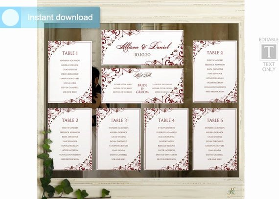 Microsoft Seating Chart Template New Wedding Seating Chart Template Download by Karmakweddings