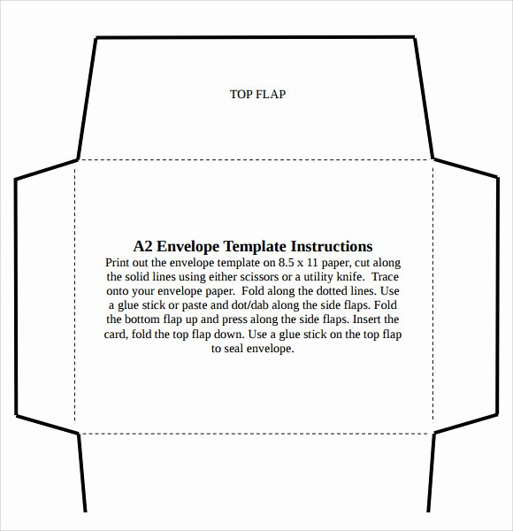 Microsoft Word Envelope Template Free Download Fresh A2 Envelope Template 7 Download Free Documents In Pdf