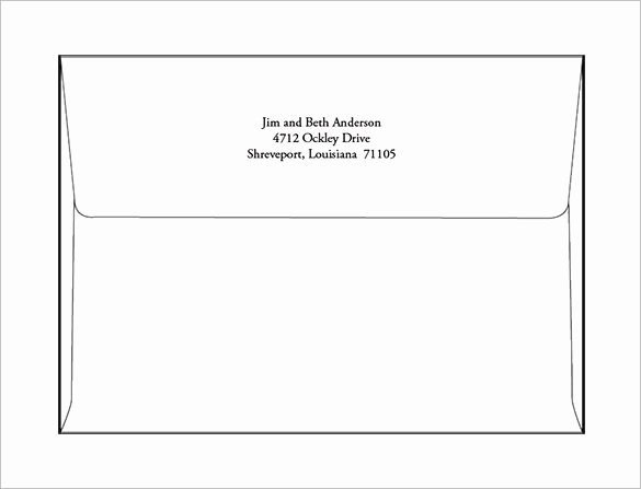 Microsoft Word Envelope Template Free Download Fresh A7 Envelope Template Microsoft Word Salonbeautyform