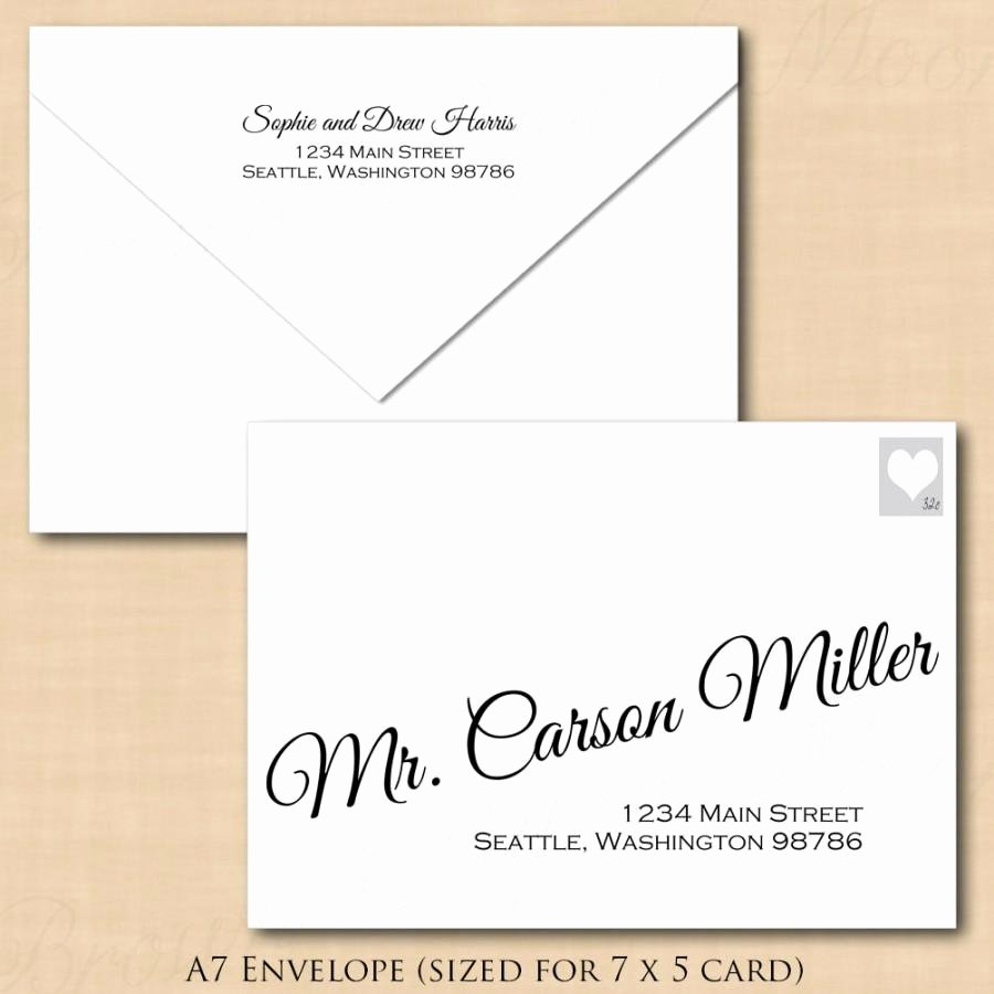Microsoft Word Envelope Template Free Download Fresh Change All Colors Calligraphy Address Wedding Envelope