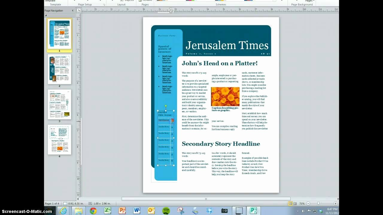 Microsoft Word Magazine Templates Awesome Create Your Magazine Content
