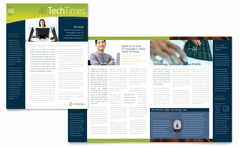 Microsoft Word Magazine Templates Elegant Free Newsletter Template Download Word & Publisher Templates