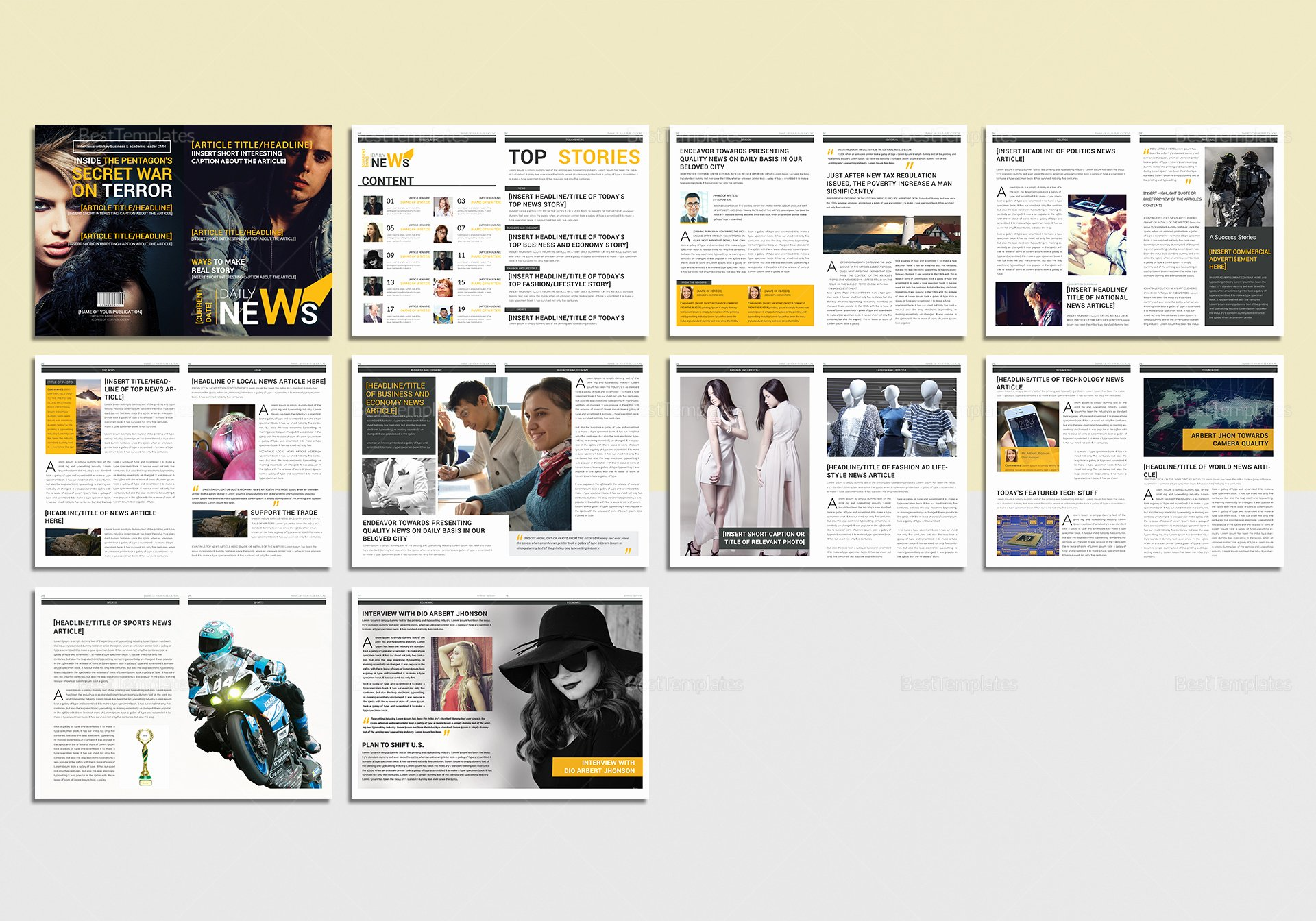 Microsoft Word Magazine Templates Lovely News Magazine Template In Psd Word Publisher Indesign