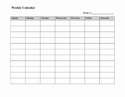 Microsoft Word Weekly Calendar Template Beautiful Best 25 Weekly Calendar Ideas On Pinterest