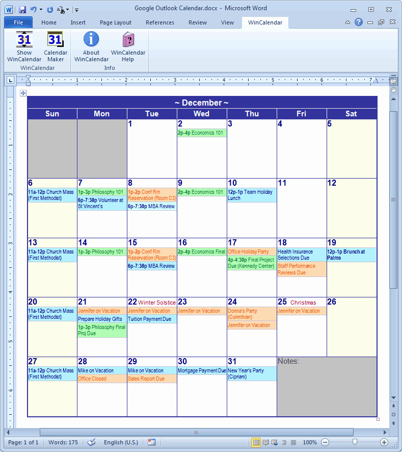 Microsoft Word Weekly Calendar Template Beautiful Calendar Creator for Microsoft Word with Holidays