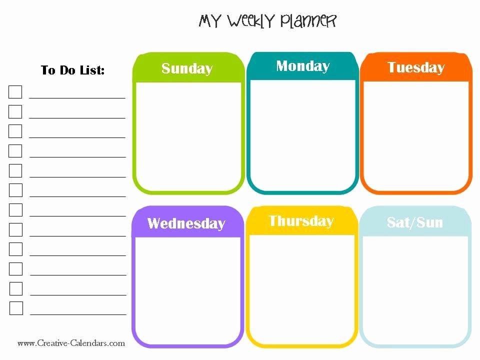 Microsoft Word Weekly Calendar Template Elegant 10 Weekly Planner Templates Word Excel Pdf formats