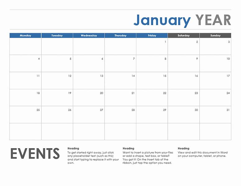 Microsoft Word Weekly Calendar Template Elegant Microsoft Word Calendar Template