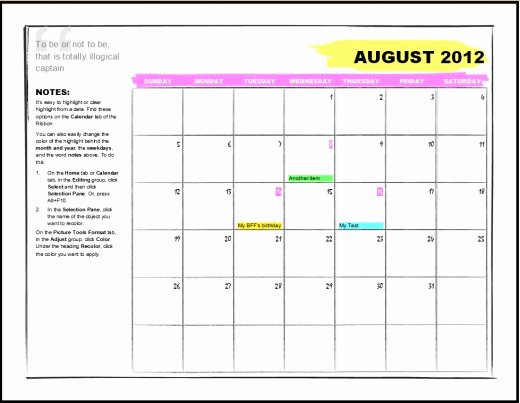 Microsoft Word Weekly Calendar Template Fresh Best S Of 2012 Calendar Template Word 2012 Calendar