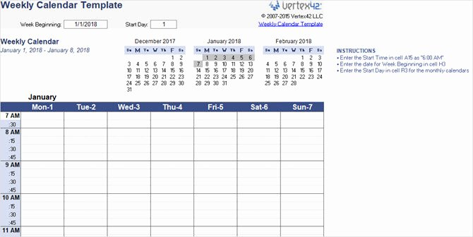 Microsoft Word Weekly Calendar Template Luxury the Best Free Microsoft Fice Calendar Templates for the