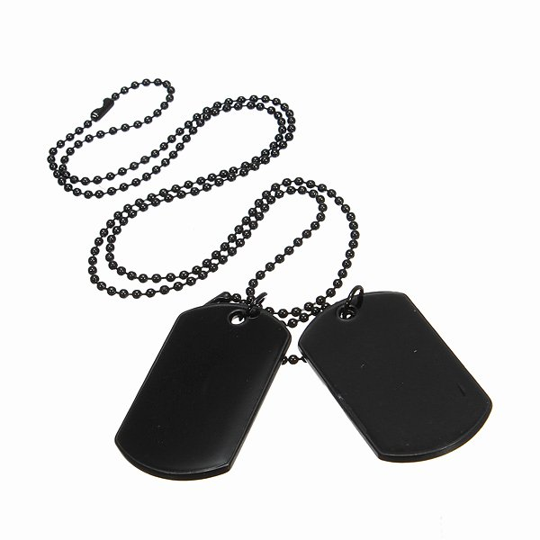 Military Dog Tags Drawing Best Of Collier Homme Army Style Noir Pendentif Achat Vente
