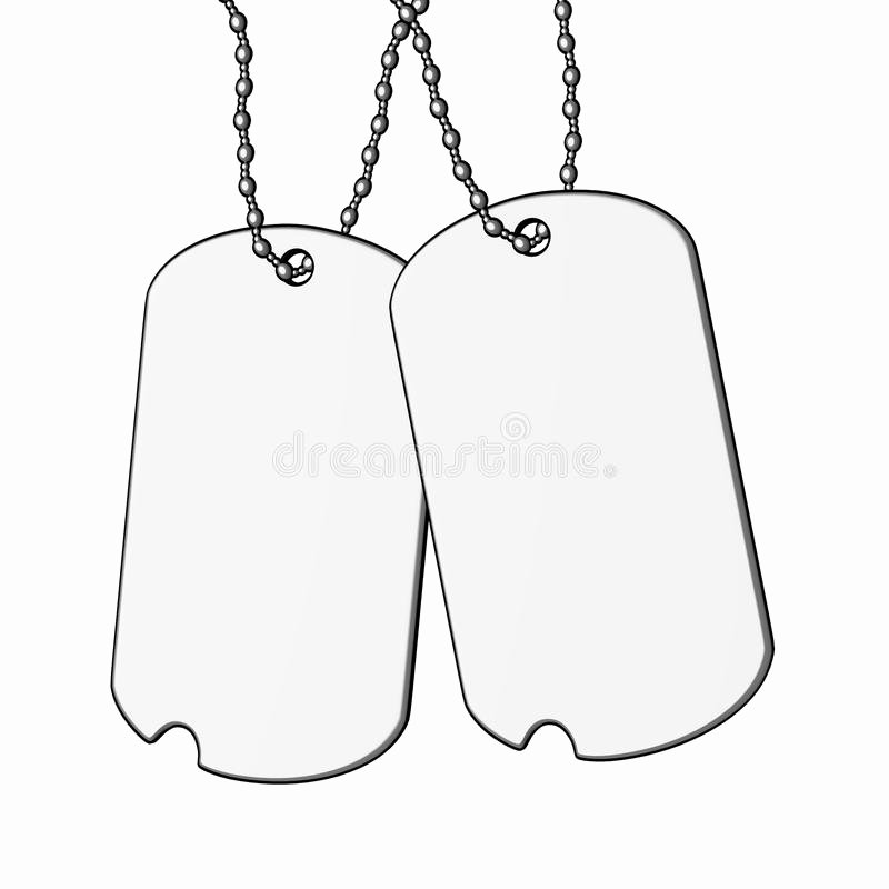 Military Dog Tags Drawing New Dog Tags Stock Illustration Illustration Of Paint Print