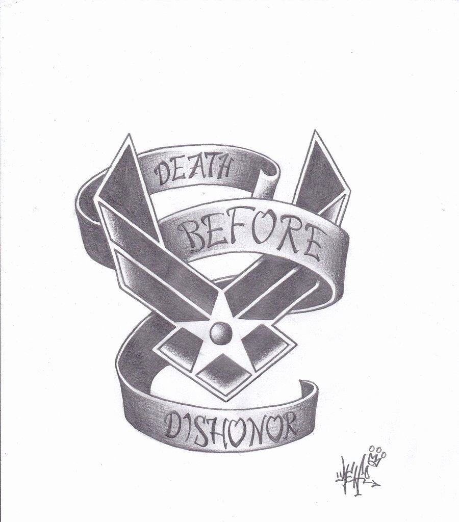 Military Dog Tags Drawings Awesome Air force Tattoo Military