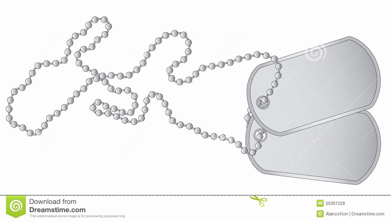 Military Dog Tags Drawings Elegant Dog Tags Stock Illustration Image Of White forces
