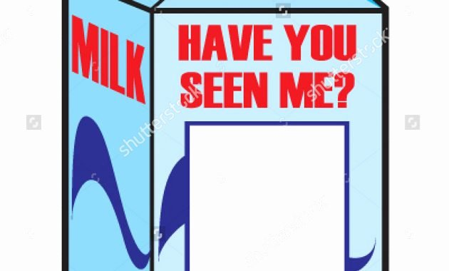 Milk Carton Missing Generator Awesome Missing Person Milk Carton Template Free Download Clip Art