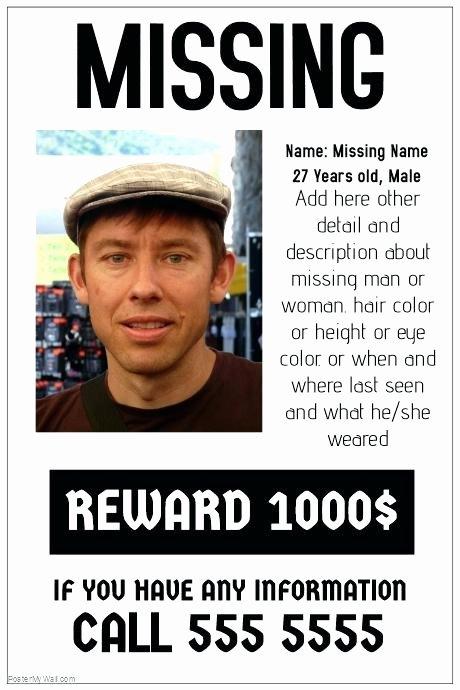 Milk Carton Missing Generator Best Of Missing Poster Generator – Idmanado