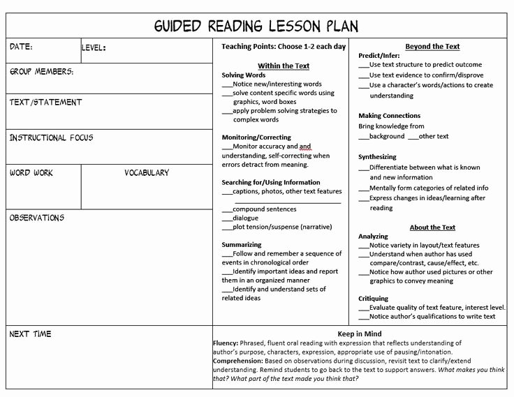 Mini Lesson Template Lucy Calkins Fresh Stop Feeling Overwhelmed Trying to Juggle Guided Reading