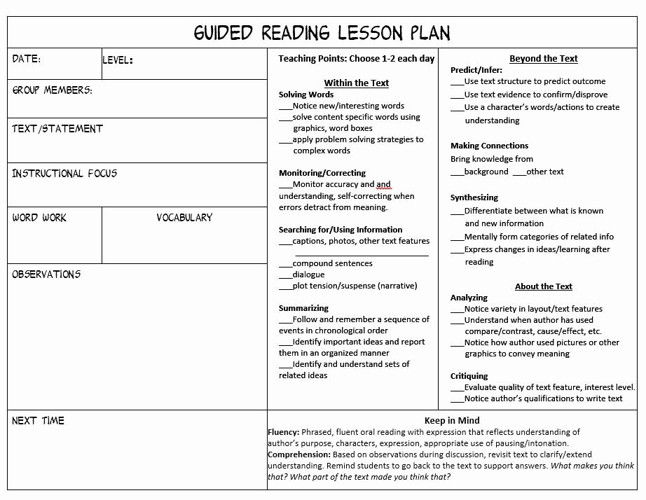 Mini Lesson Template Lucy Calkins Luxury Stop Feeling Overwhelmed Trying to Juggle Guided Reading