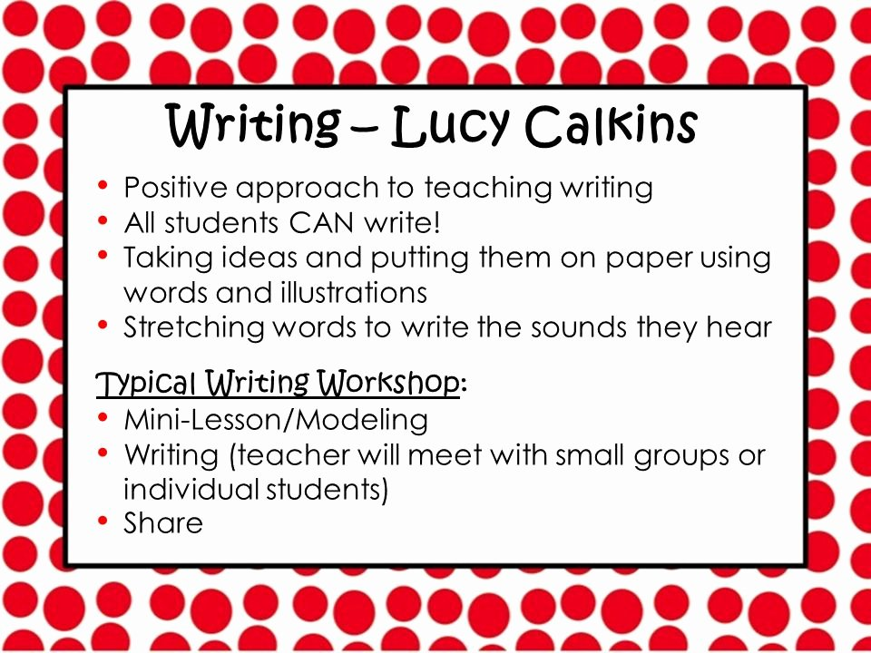 Mini Lesson Template Lucy Calkins Unique Parents Please Find Your Child's Mailbox Ppt Video