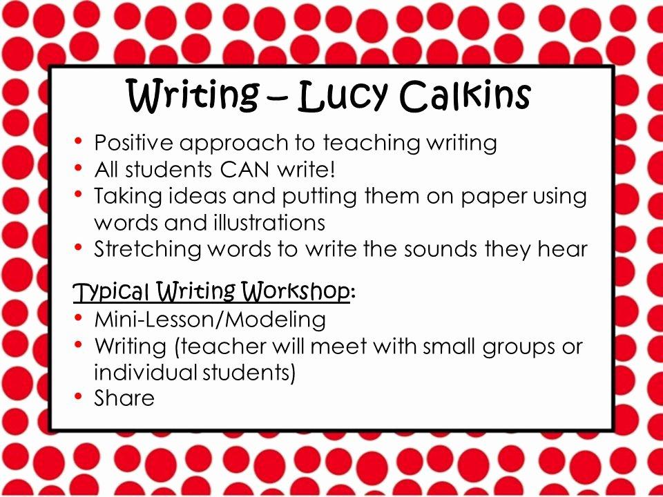 Mini Lesson Template Lucy Calkins Unique Parents Please Find Your Child's Mailbox Ppt Video