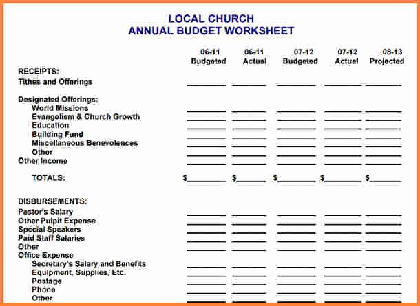 Ministry Budget Template Fresh 10 Sample Church Bud Spreadsheet