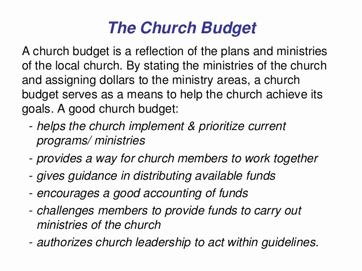 Ministry Budget Template New 11 Church Bud Ing