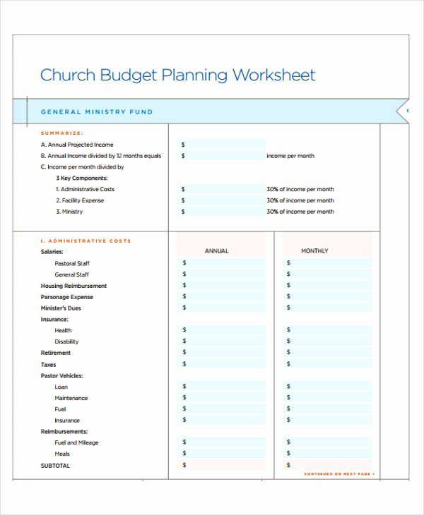 Ministry Budget Template New 31 Bud Templates