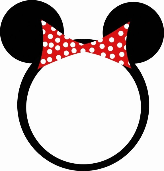 Minnie Mouse Bow Template Printable Fresh Minnie Mouse Bow Template Clipart