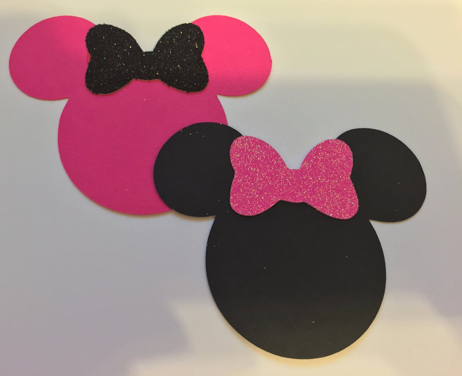 Minnie Mouse Cut Out Head Awesome 20 3 Minnie Mouse Head Silhouettes Card Stock Cutouts