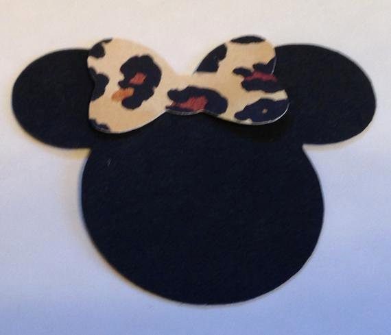 Minnie Mouse Cut Out Head Awesome 30 2 5 Minnie Mouse Head Silhouettes Die Cut Black
