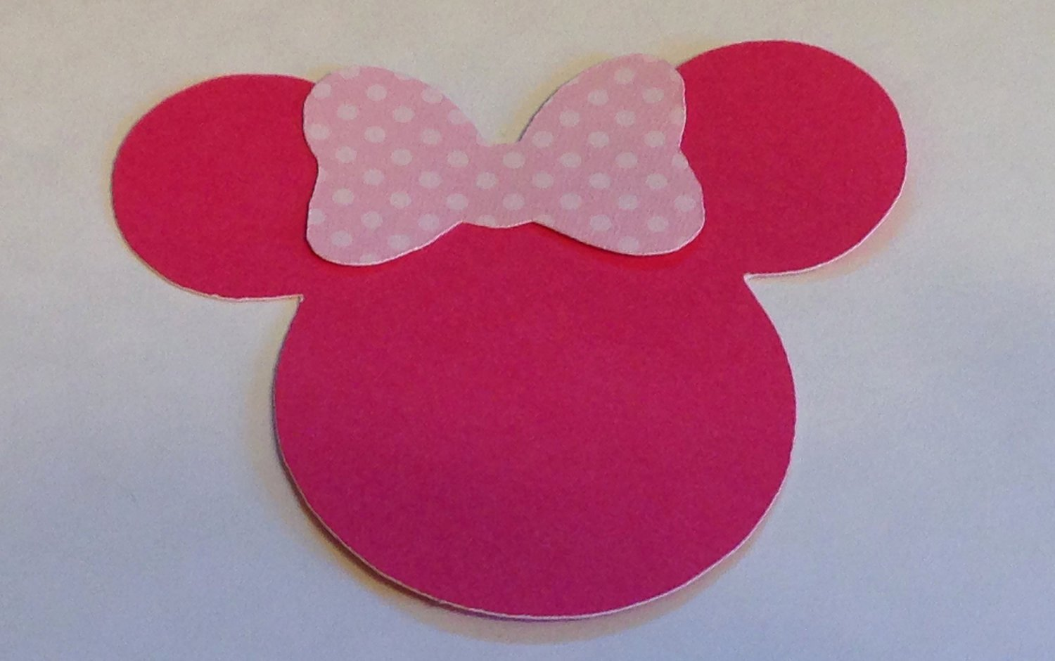 Minnie Mouse Cut Out Head Awesome 30 2 5 Minnie Mouse Head Silhouettes Die Cut Pink