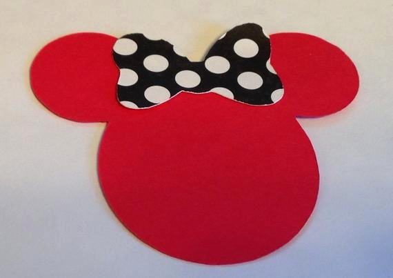 Minnie Mouse Cut Out Head Fresh 30 2 5 Minnie Mouse Head Silhouettes Die Cut Red