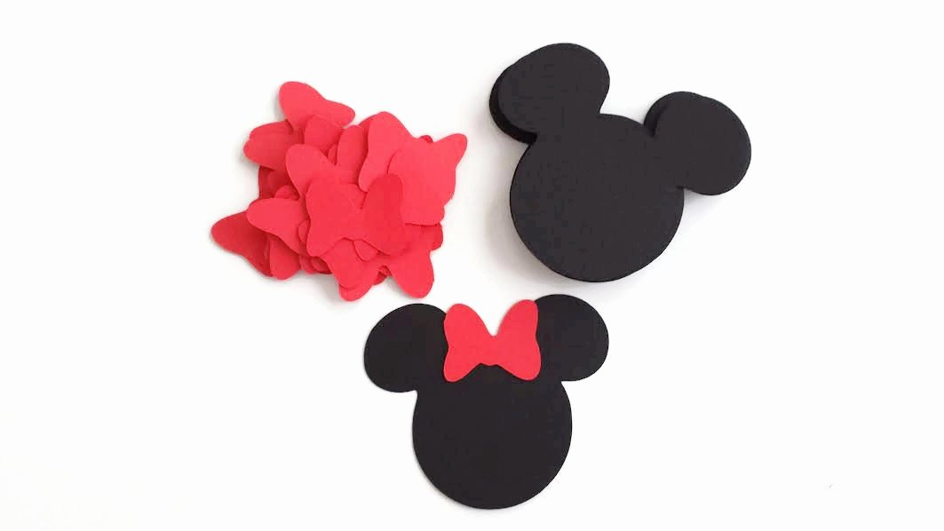 Minnie Mouse Cut Out Head Inspirational Diy 24 Die Cut Small Minnie Mouse Head Minnie Ears with Bows