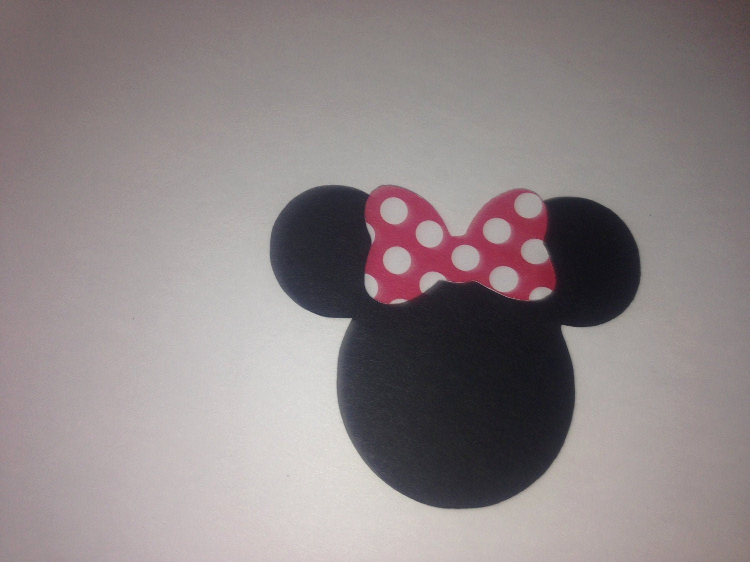 Minnie Mouse Cut Out Head New 30 2 5 Minnie Mouse Head Silhouettes Die Cut Black