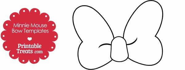Minnie Mouse Cut Out Template Best Of Free Printable Minnie Mouse Bow Template