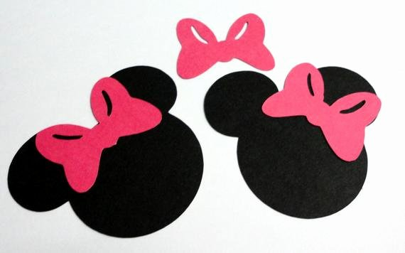 "Minnie Mouse Cut Out Template Inspirational Items Similar to 50 2 5"" Minnie Mouse Head Silhouettes"