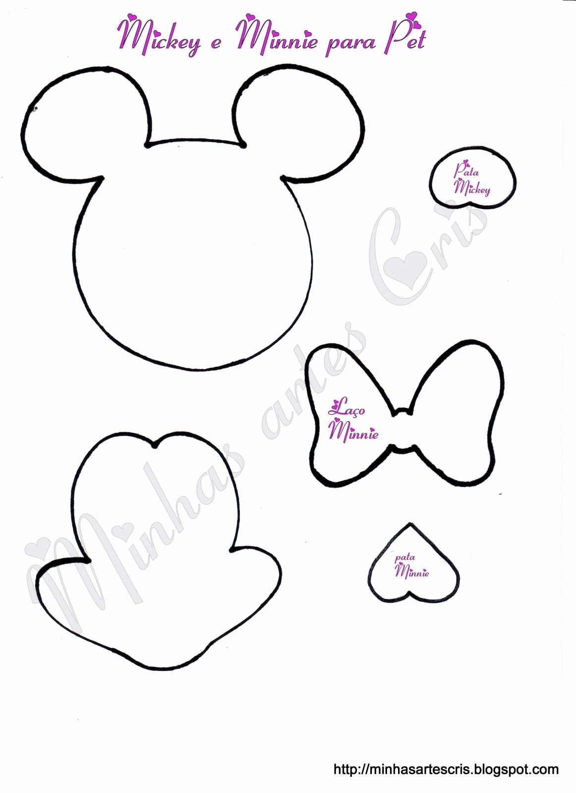Minnie Mouse Cut Out Template New Minnie Moldes Pinterest