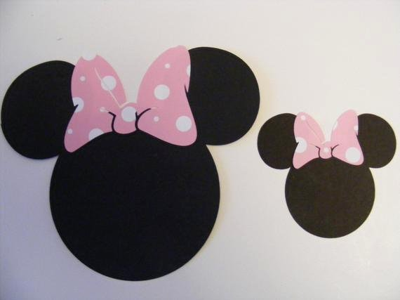 Minnie Mouse Ears Cut Out Best Of Minnie Mouse Head and Ears with Pink Polka Dot Bow Die Cut