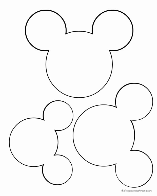 Minnie Mouse Ears Outline Beautiful Minnie Mouse Head Silhouette Printable at Getdrawings