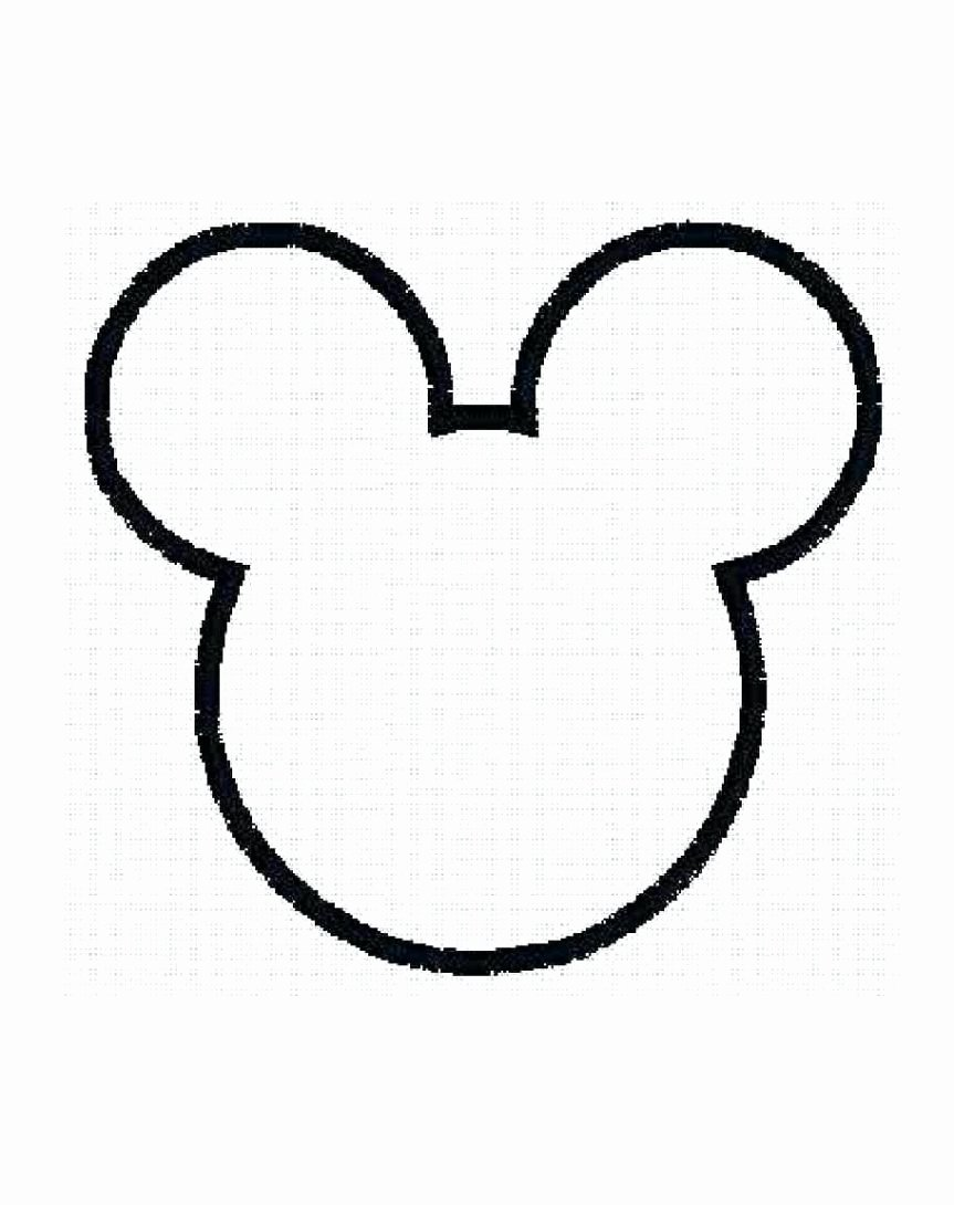 Minnie Mouse Ears Outline Elegant Outline Mickey Mouse