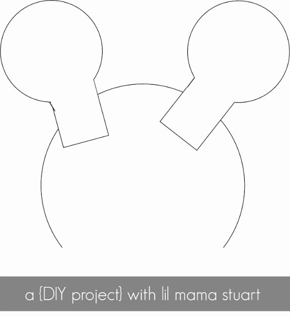 Minnie Mouse Ears Outline Luxury A Day with Lil Mama Stuart Diy Mickey & Minnie Mouse Ears