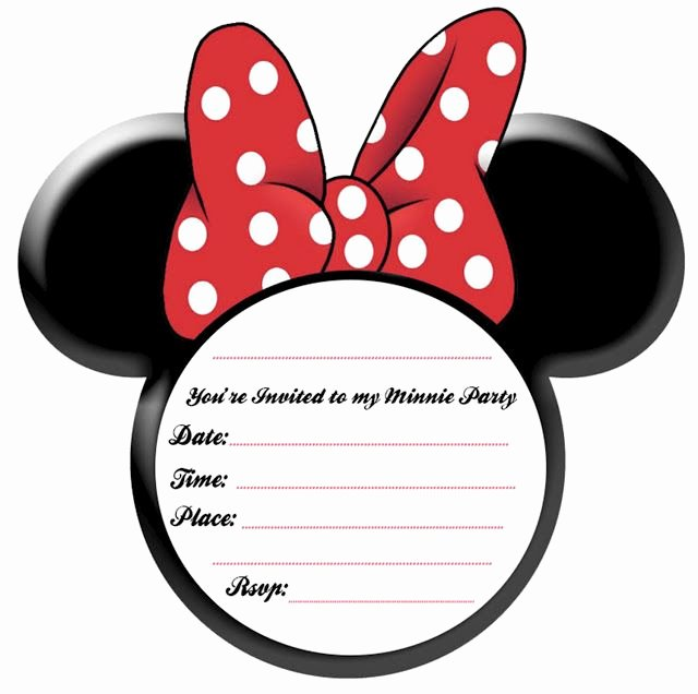 Minnie Mouse Ears Printable New Free Minnie Mouse Ears Printable Invitation Plus Other