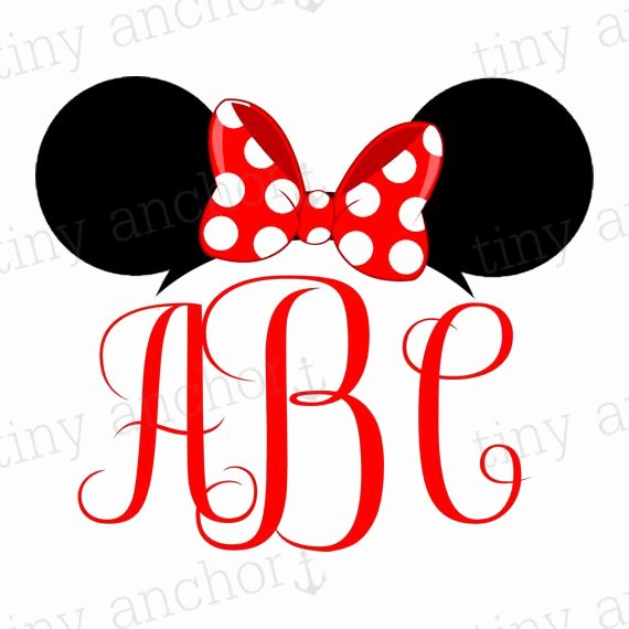 Minnie Mouse Ears Printable Unique Choose Your Color Printable Personalized Minnie Mouse Ears