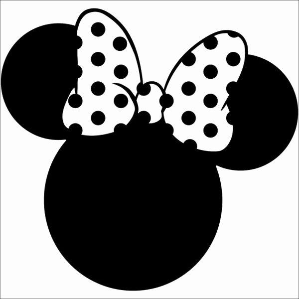 Minnie Mouse Ears Template Printable Beautiful 6 Beautiful Minnie Mouse Silhouettes